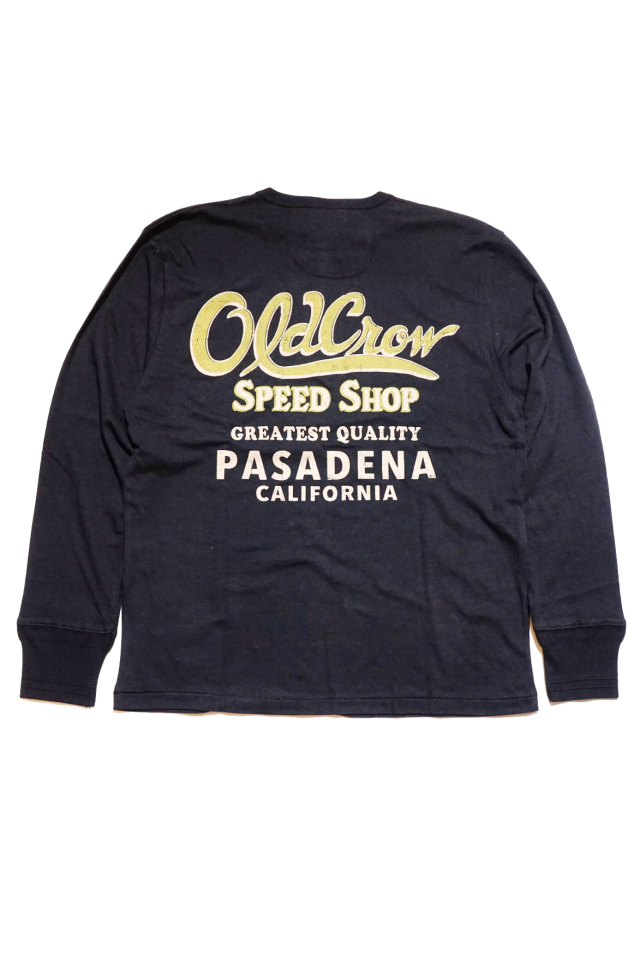 OLD CROW CROW BRAND - L/S HENRY T-SHIRTS BLACK