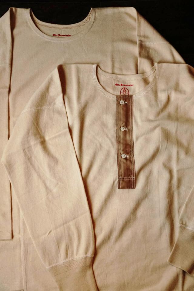 """Olde Homesteader """"Crew Neck Long sleeve"""" -Rustic Jersey- ECRU"""