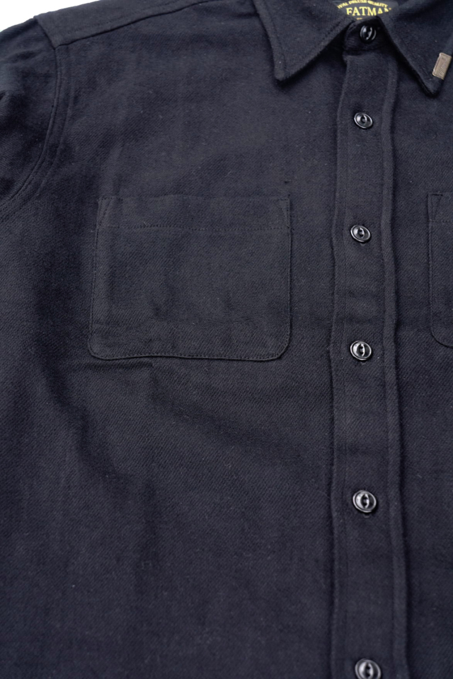 "Mr.FATMAN ""Johnny Cotton Flannel Shirt"" BLACK"