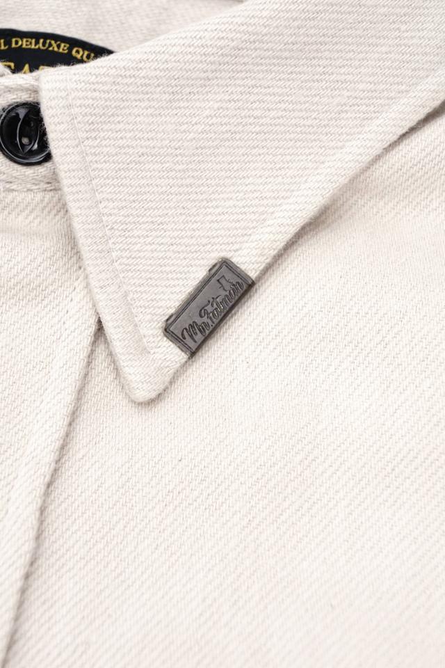 "Mr.FATMAN ""Johnny Cotton Flannel Shirt"" IVORY"
