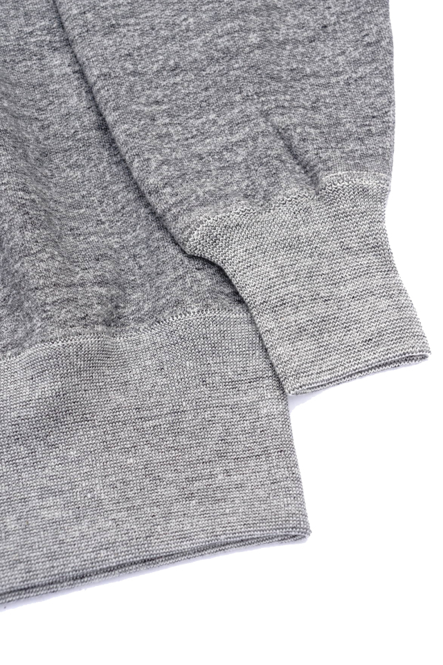 "Olde Homesteader ""Extra Cotton Fleece / Crew Neck Long Sleeve"" TOP CHARCOAL"