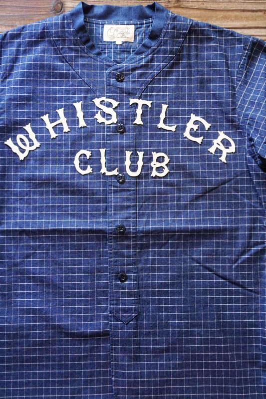 5 WHISTLE WHISTER BASEBALL JERSEY INDIGO BLUE