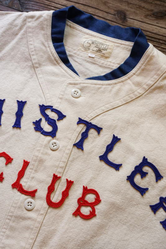 5 WHISTLE WHISTER BASEBALL JERSEY WHITE