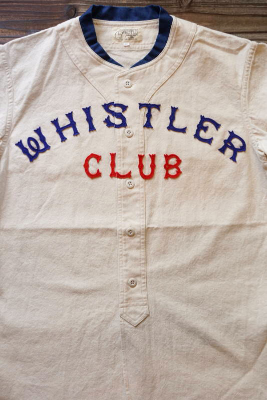5 WHISTLE WHISTER BASEBALL JERSEY WHITE