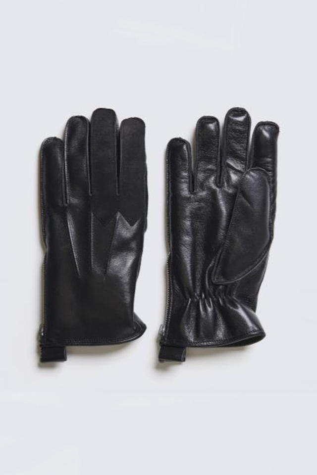 ADDICT CLOTHES JAPAN ACVM RACING BOA GLOVES HORSE LEATHER BLACK