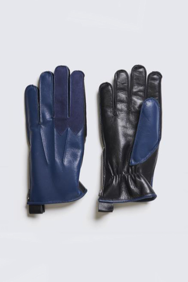 ADDICT CLOTHES JAPAN ACVM RACING BOA GLOVES HORSE LEATHER VINTAGE BLUE