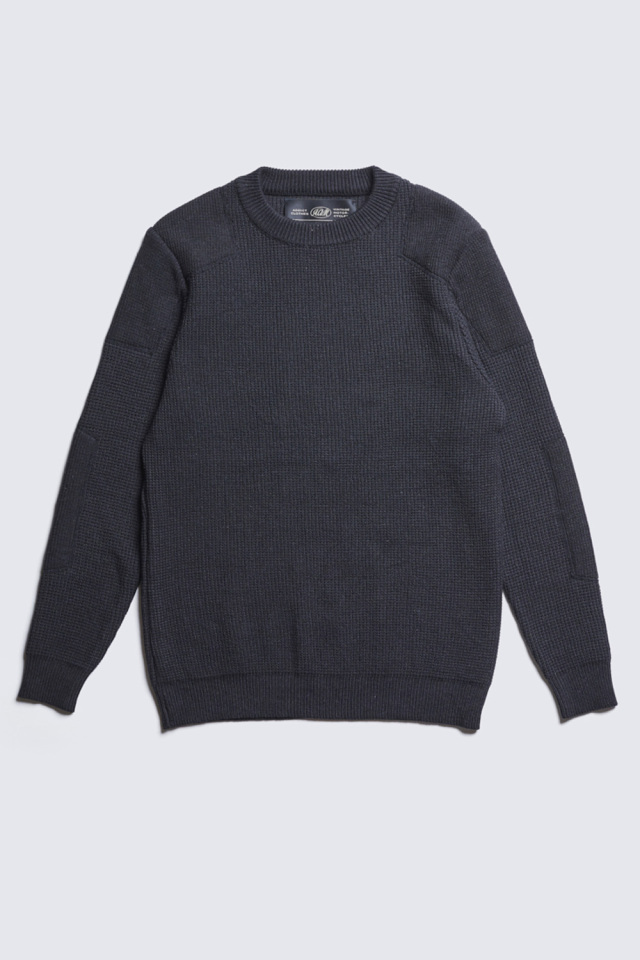 ADDICT CLOTHES JAPAN ACVM PADDED WAFFLE COTTON KNIT BLACK
