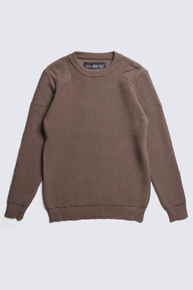 ADDICT CLOTHES JAPAN ACVM PADDED WAFFLE COTTON KNIT WALNUT