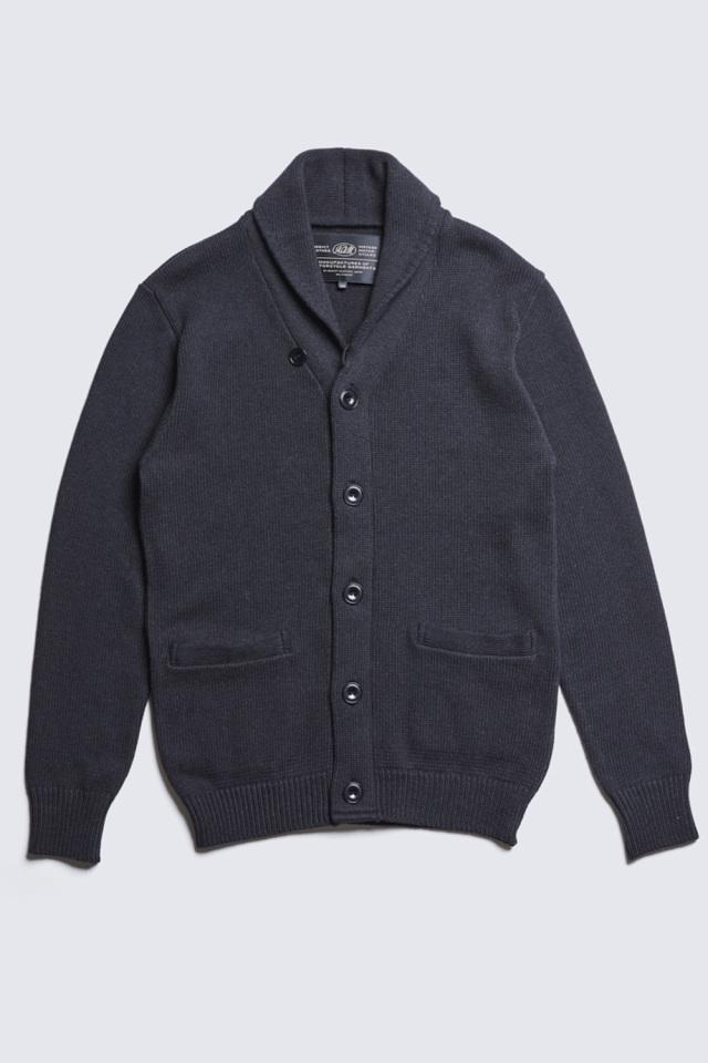 ADDICT CLOTHES JAPAN ACVM COTTON SHAWL COLLAR KNIT BLACK