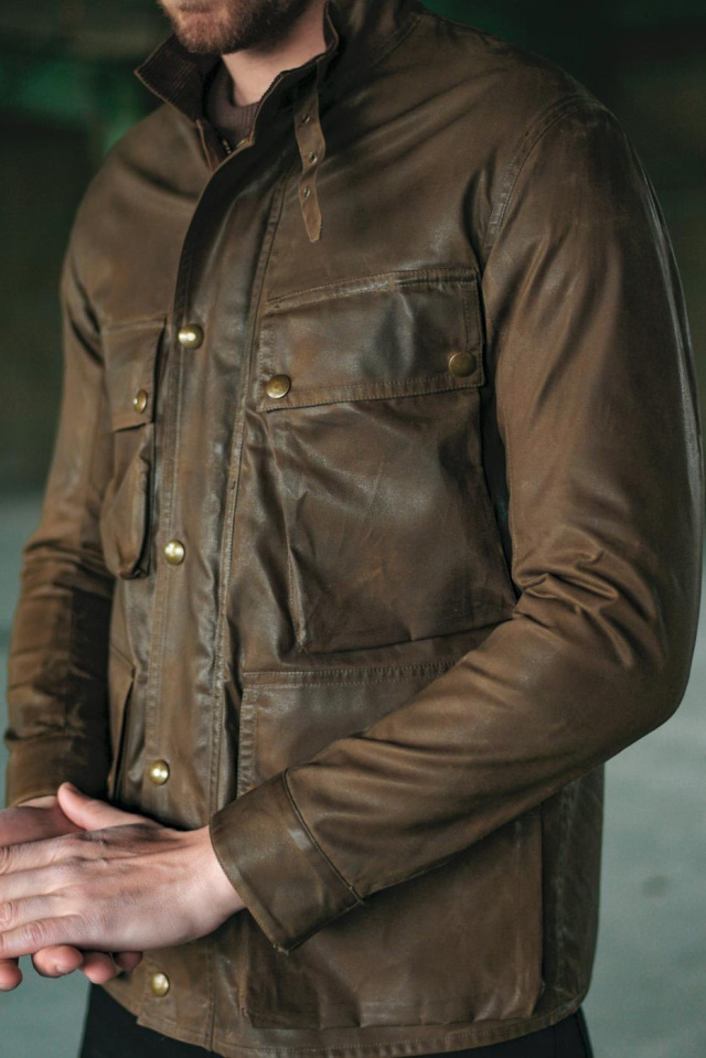 ADDICT CLOTHES JAPAN ACVM WAXED COTTON BMC JACKET BROWN