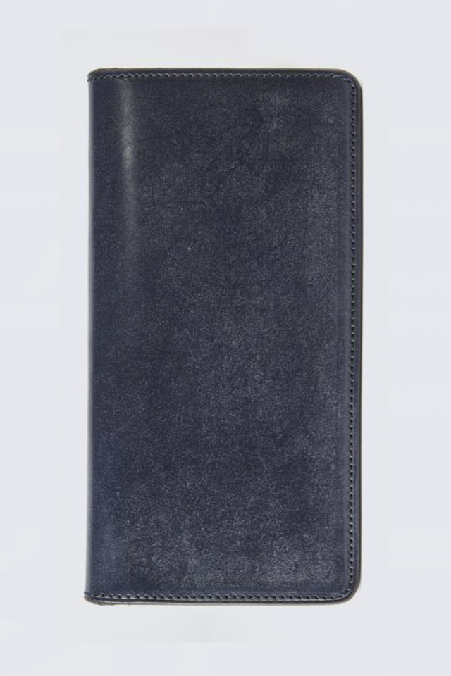 ADDICT CLOTHES JAPAN ACVM UK BRIDLE LEATHER WALLET LONG D.BLUE