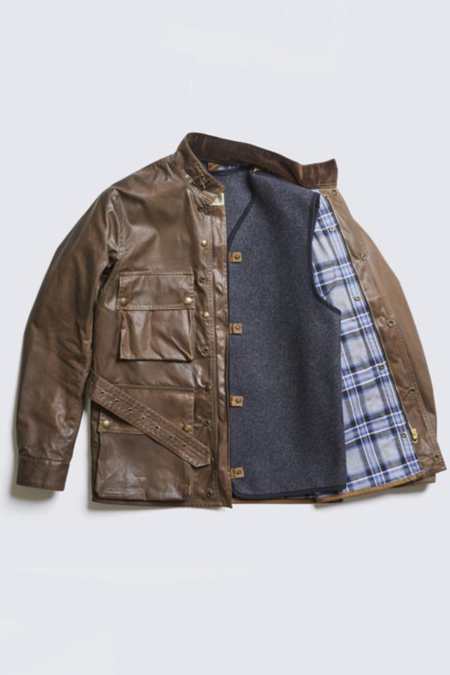 ADDICT CLOTHES JAPAN ACVM WAXED COTTON BMC JACKET BROWN