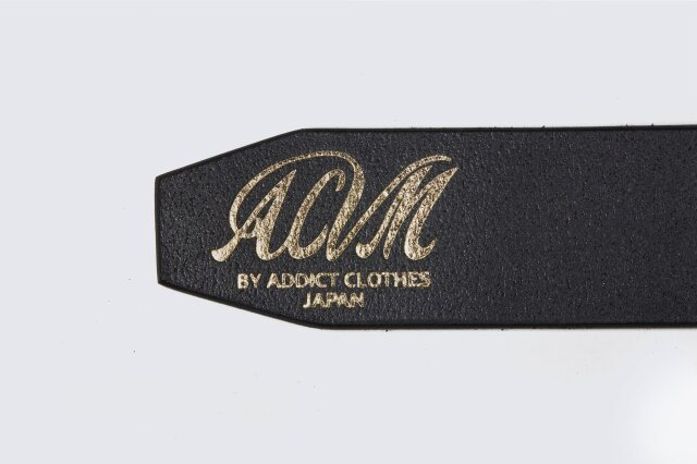 ADDICT CLOTHES JAPAN ACVM ACV-B02S NARROW GARRISON BELT BLACK