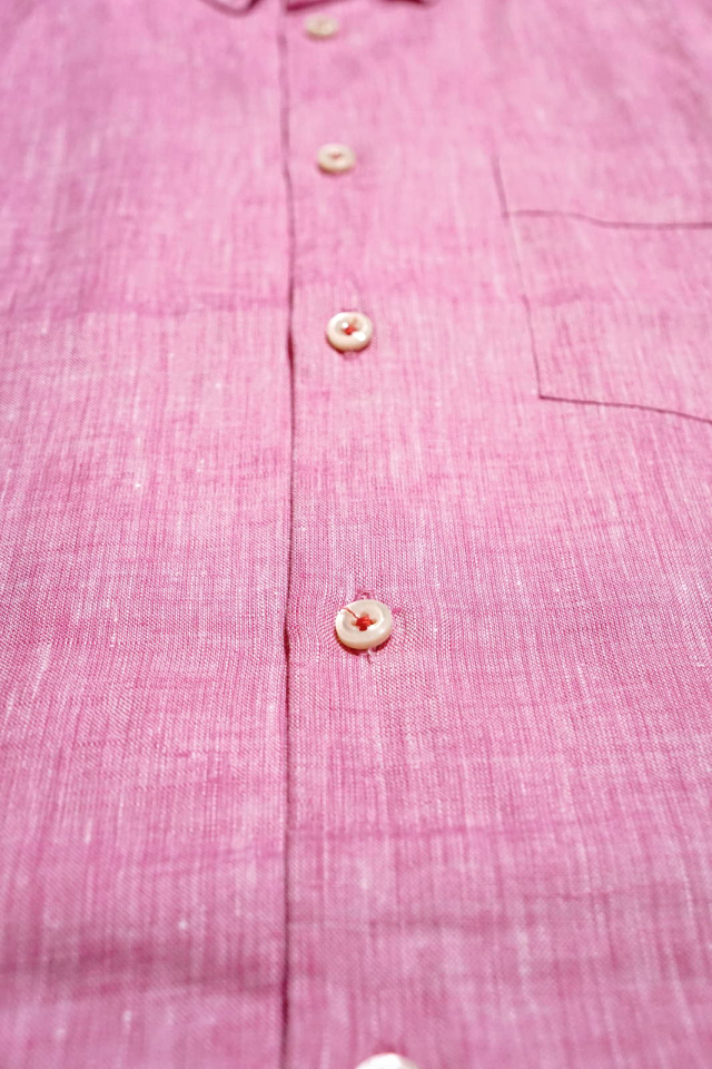 ANDFAMILYS CO. French Linen Chambray Shirts Rose Pink