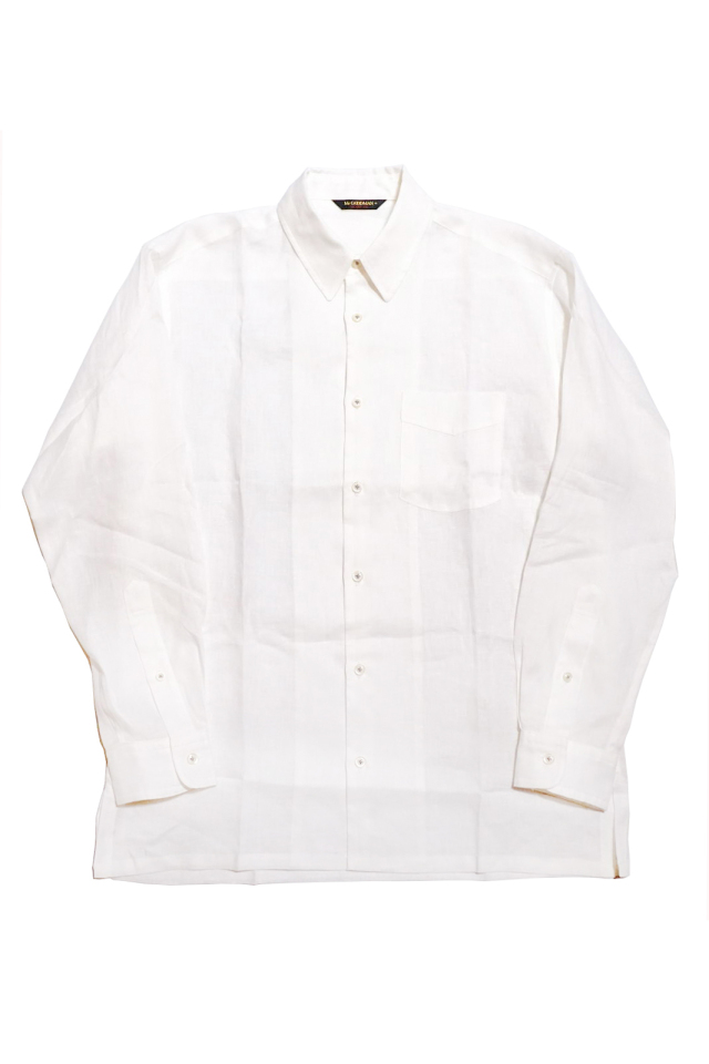 ANDFAMILYS CO. French Linen Chambray Shirts White