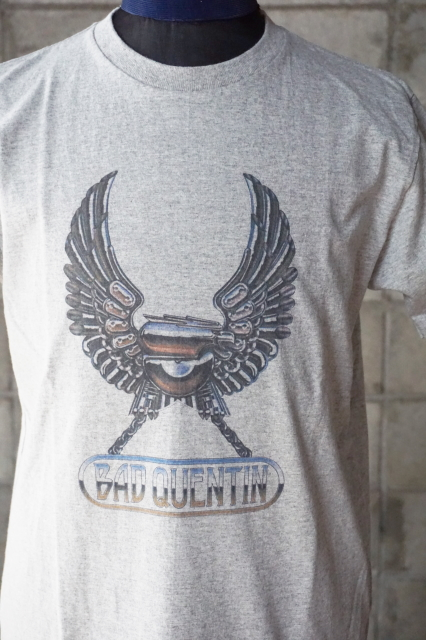 BAD QUENTIN PRINT T-SHIRTS (IRON EAGLE) GRAY