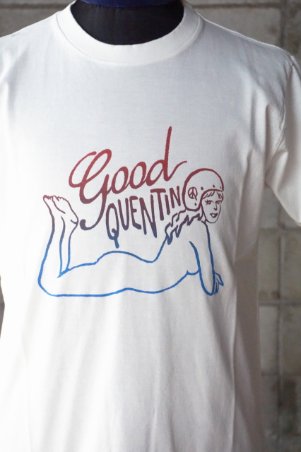 BAD QUENTIN PRINT T-SHIRTS (PINUP GIRL) WHITE