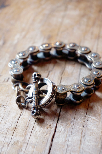 M-BR-MC003SB / 約 23 cm MCC-TYPE CARVING BRACELET