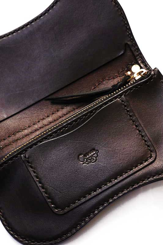 Brass Shoe Co.1 0th Anniversary Brass ×ATELIER CHERRY Leather Wallet BLACK