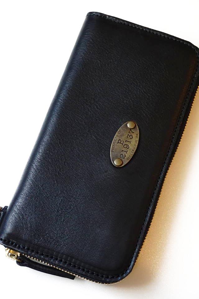 B.S.M.G. B.O. - Zip Wallet Long Plate BLACK