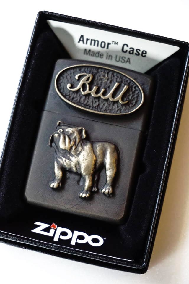 B.S.M.G. B.O. Armor Case Zippo BRS BULL DOG