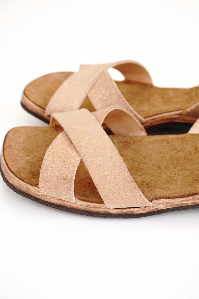 CLINCH Cross SANDAL Natural Roughout