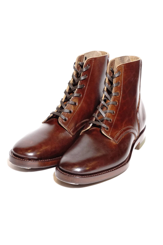 "CLINCH Yeager boots Horsebutt overdye BROWN ""Leather Sole + HRS + TRビーンズ"""