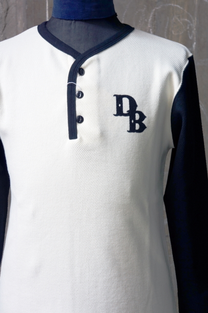 Delinquent Bros 2TONE HENLY NECK THURMAL WHITE