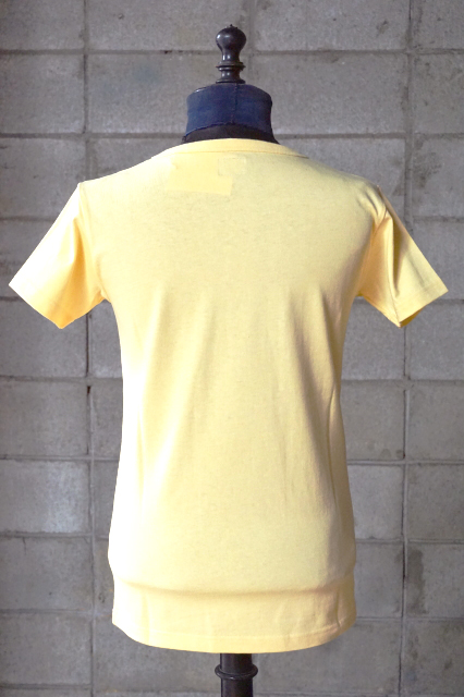 """Delinquent Bros """"BEACH""""PINUP Tee YELLOW"""