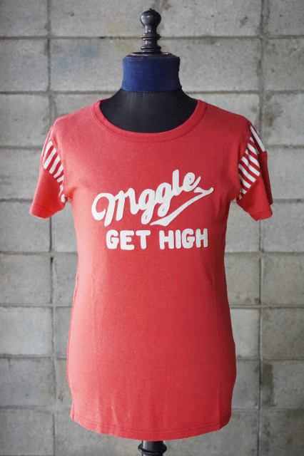 """Delinauent Bros """"Maggle"""" RAYON Tee RED"""