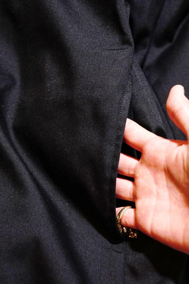 GANGSTERVILLE RISE ABOVE - PILE COAT BLACK×NATURAL