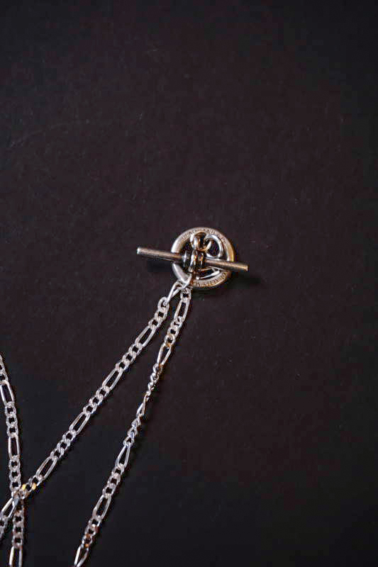 GLAD HAND JEWELRY FOB TOP & CHAIN SILVER925