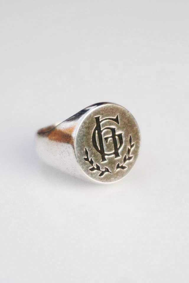 GLAD HAND JEWELRY RING PLAIN SILVER925