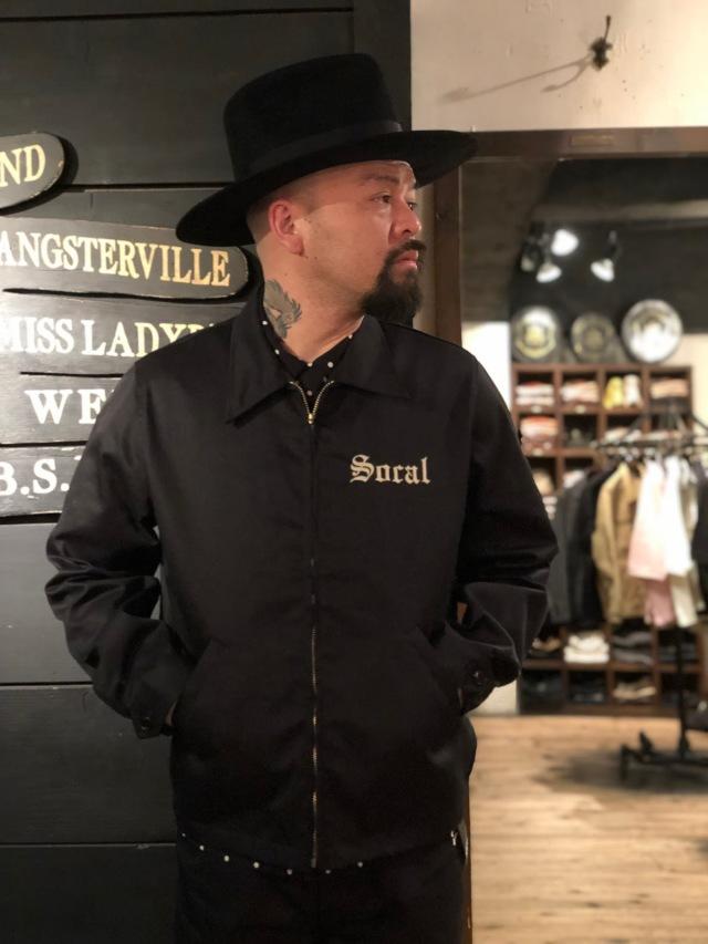 GANGSTERVILLE SOCAL - WORK JACKET BLACK