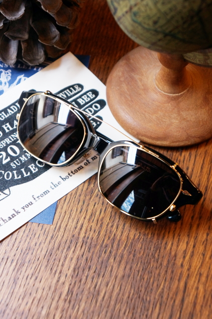 """GLAD HAND×丹羽雅彦 J-IMMY & CLIP ON GLASSES """"GOLD"""" BLK/BLK"""
