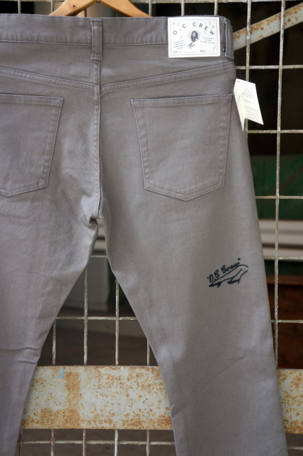 "O.C CREW ""ACE"" STRATCHE SLIM PANTS GRAY"