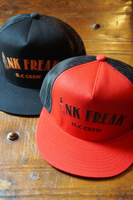 "O.C CREW ""INK FREAK""MESH CAP"