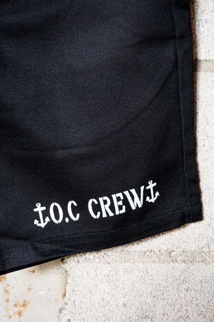 "O.C CREW ""RAKE""2TONE SHORT PT (BLACK)"