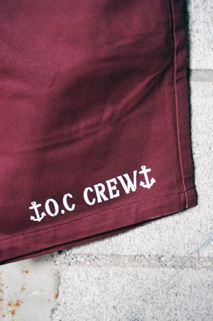 """O.C CREW """"RAKE""""2TONE SHORT PT (BURGUNDY)"""