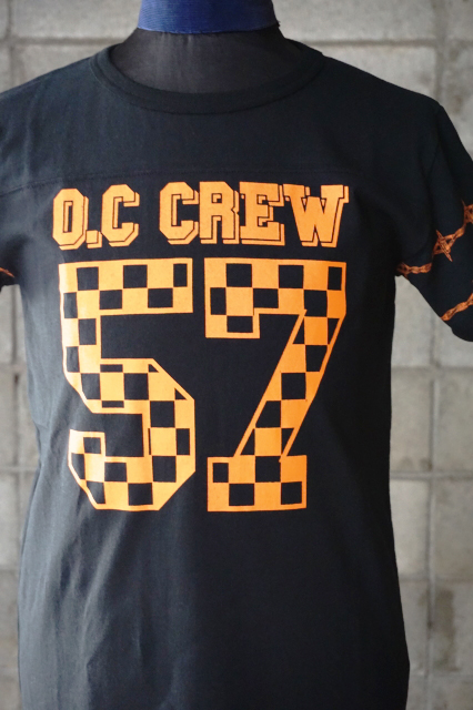 "O.C CREW ""HOLE""FOOTBALL Tee BLACK"