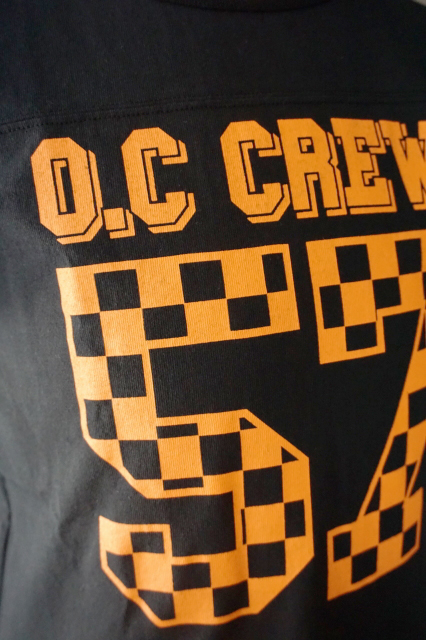 "O.C CREW ""HOLE""FOOTBALL Tee BLACK"