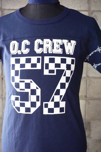 "O.C CREW ""HOLE""FOOTBALL Tee NAVY"