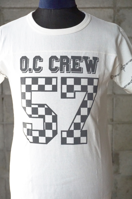"O.C CREW ""HOLE""FOOTBALL Tee WHITE"