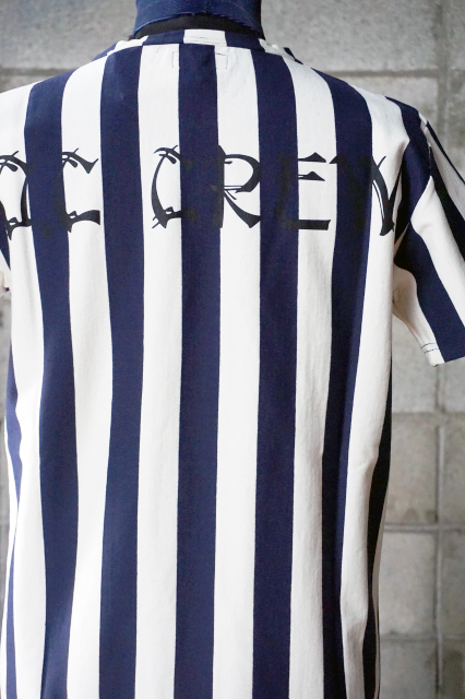 "O.C CREW ""LAW""STRIPE TEE NAVY"