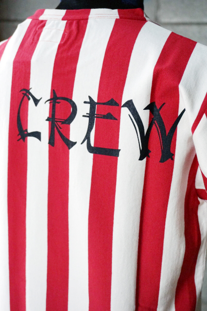 "O.C CREW ""LAW""STRIPE TEE RED"
