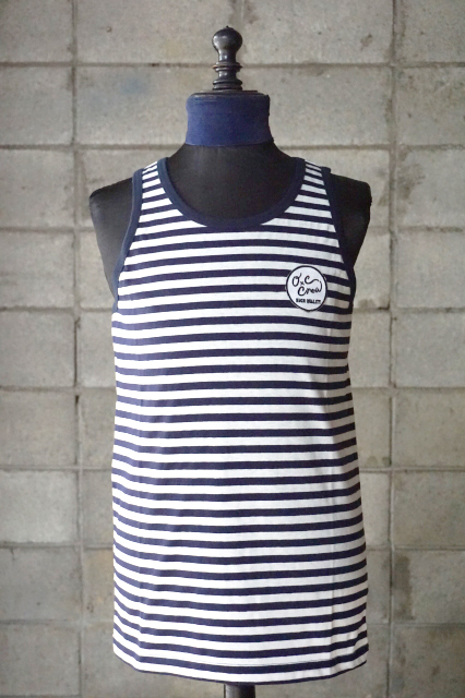 "O.C CREW ""CHILLI""BORDER TANKTOP NAVY"