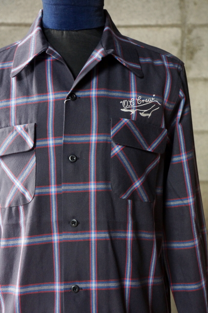 "O.C CREW ""HUNTER""CHECK FLANNEL SHIRTS BLACK"