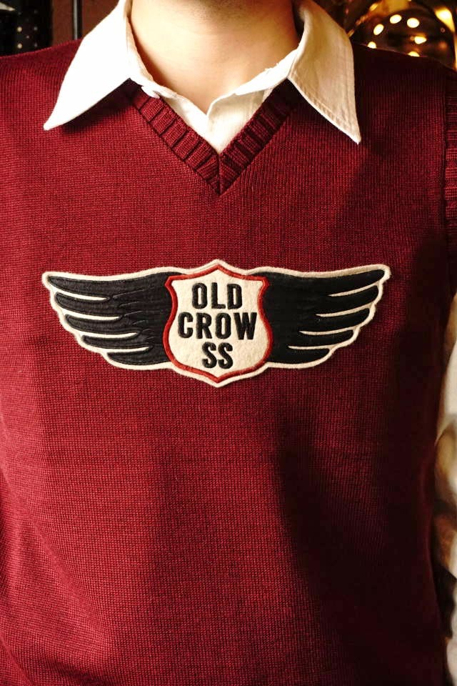 OLD CROW CROW WING - VEST BURGUNDY