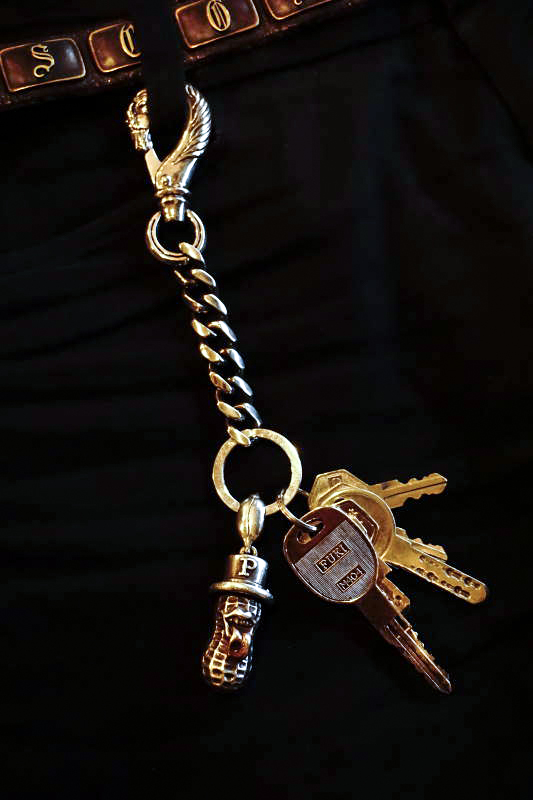 """PEANUTS & Co. Special Order horse key chain """"L"""" silver"""