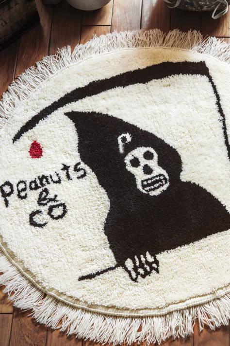 PEANUTS & Co.×Scum boy tattoo ORIFINAL HANDMADE RUG GRIM REPER
